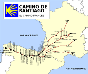 Camino de Santiago o ruta Jacobea