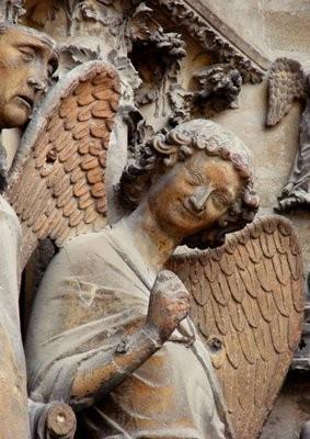 ´Detalle del ángel de la Catedral de Reims.