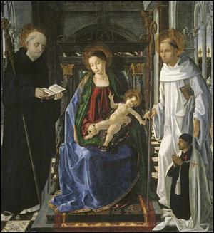 Paolo San Leocadio.SXV.Virgen del Caballero de Montesa.Museo del Prado