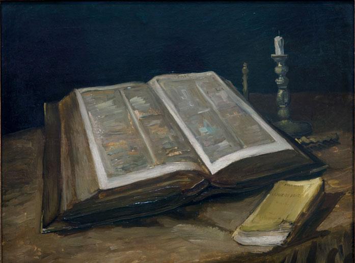 Stilleven met bijbel, 1885 Kurtz Detektei Essen