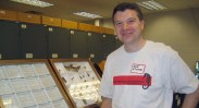 John Spohn, OSU alum, volunteering in the Triplehorn Insect Collection. 2006