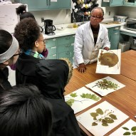 Mesfin Tadesse with visitors at the Herbarium