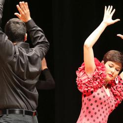 Folclor Hispano OSU performance, (photo by Hudson Sharrock/The Ohio State University).
