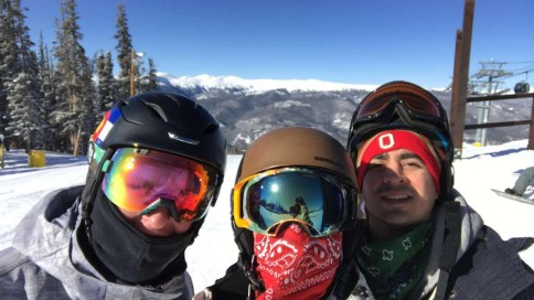 From left to right: Will, Brother Ricardo, and Orlando at Keystone, Colorado.