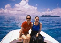 Andrea and Branwen in Palau 2006