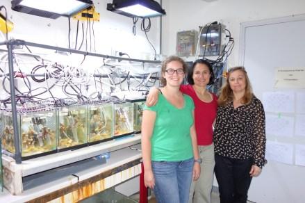 Miriam, Andrea, Christine at CSM Monaco