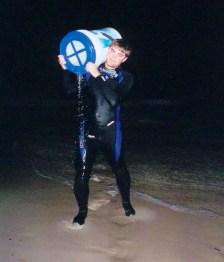 Jim collected seawater, Panama