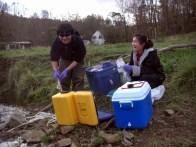 Yohei and Teresa sampling at Coshocton 2008