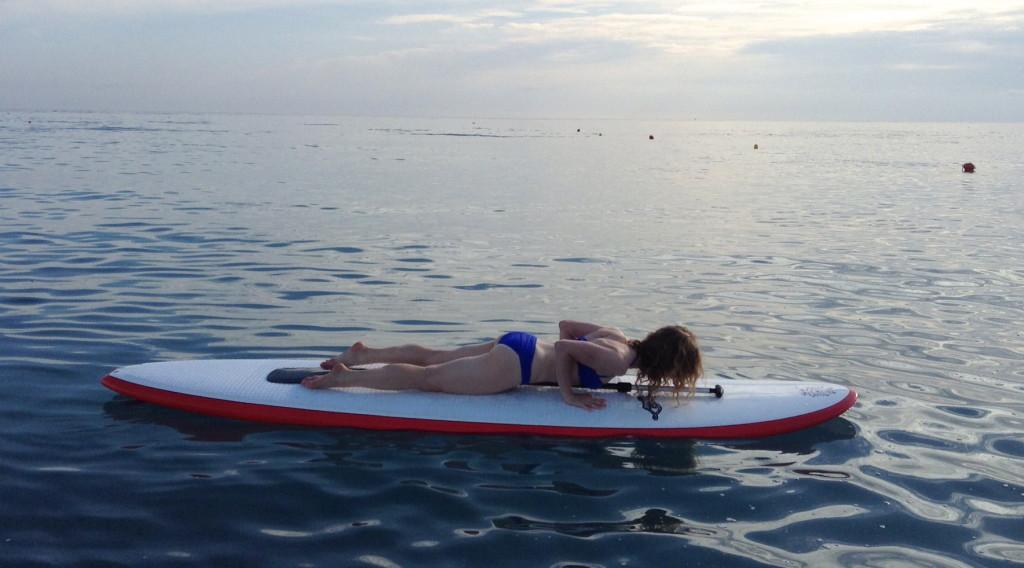Paddle Board Yoga: Chaturanga