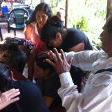 We even had entire families praying over each other for healing!