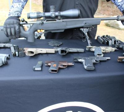 The Sig Sauer display table