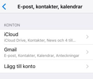 synka kontakter på iphone