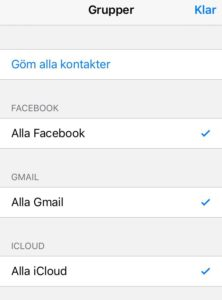 importera kontakter iphone