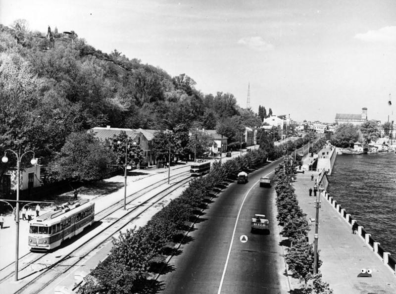 Набережная Днепра (ныне - Набережное шоссе), 1959 год