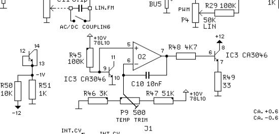 Doepfer A110 schematic - heated CA3046