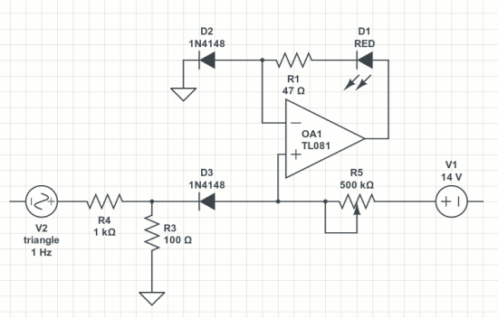 anti-log LED driver circuit