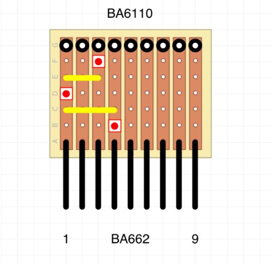 ba662 > ba6110 adaptor