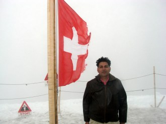 Top of Europe, cold, chilly and windy