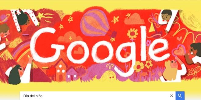 Google celebra el Día del Niño con un doodle