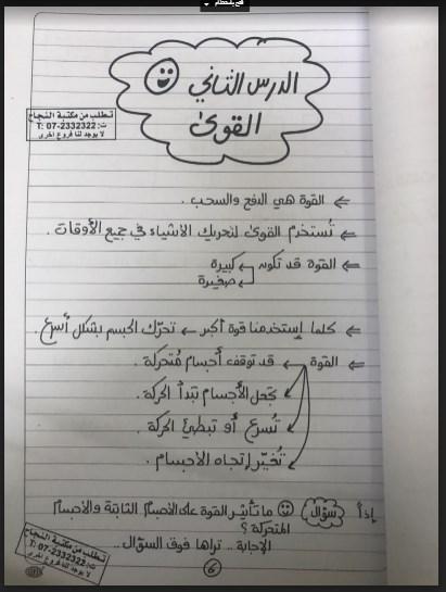 ملخص الوحدة العاشرة علوم للصف الثالث الفصل الثالث