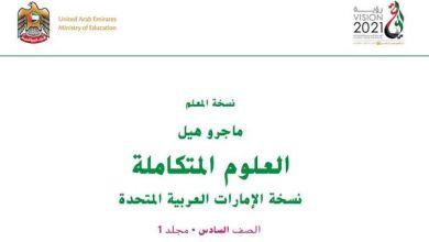 Photo of دليل المعلم علوم الصف السادس فصل أول
