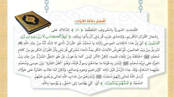 حل سورة السجدة تربية اسلامية