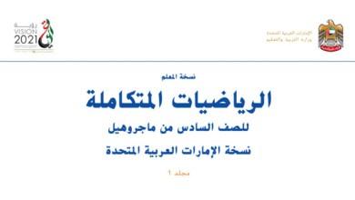 Photo of دليل المعلم رياضيات محلول صف سادس فصل أول