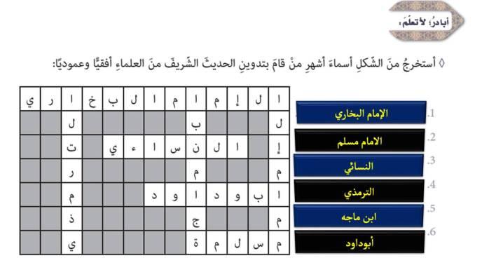 حل درس الإمام مسلم رحمه الله تعالى