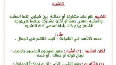 Photo of شرح انواع التشبيه  لغة عربية صف ثامن فصل ثاني