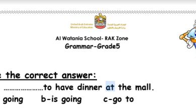 Photo of صف خامس فصل ثاني لغة إنجليزية تمارين على القواعد مع الإجابات