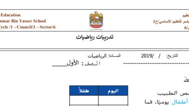 Photo of ورقه عمل رياضيات صف أول فصل ثاني