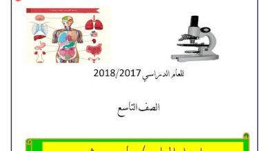 Photo of صف تاسع فصل ثاني علوم  تلخيص الشغل والطاقة