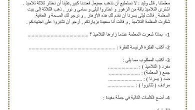 Photo of صف ثالث فصل ثاني ورق عمل في مهارات القراءة لغة عربية