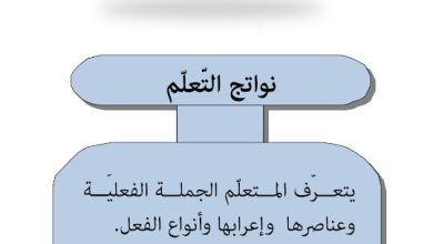Photo of صف ثاني عشر فصل ثاني شرح وحلول درس الجملة الفعلية لغة عربية