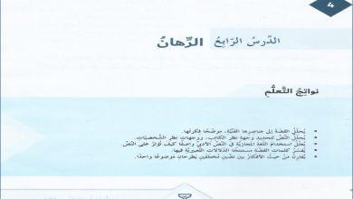 Photo of صف سابع فصل ثاني حل درس قصة الرهان لغة عربية