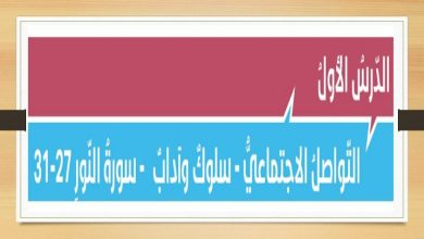 Photo of صف ثاني عشر فصل ثاني تربية إسلامية التواصل الاجتماعي سلوك وآداب