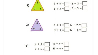 Photo of صف أول فصل ثاني ورق عمل رياضيات الحقائق المترابطة