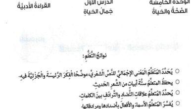 Photo of حل درس جمال الحياة لغة عربية صف سادس فصل ثاني