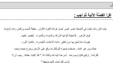 Photo of صف ثاني فصل ثاني نص واسئلة على النص تدريبات فهم المقروء في اللغة العربية