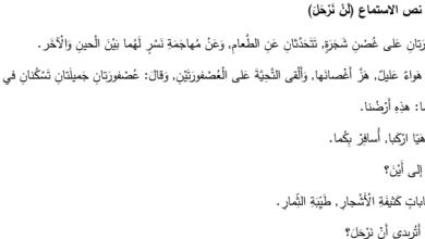 Photo of نصوص استماع لغة عربية صف ثالث فصل ثاني