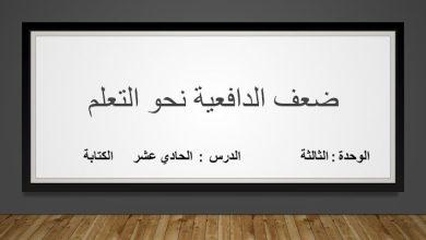 Photo of حل درس ضعف الدافعية نحو التعلم لغة عربية صف ثامن فصل ثاني