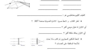 Photo of ورق عمل الضوء والكهرباء علوم صف رابع فصل ثاني