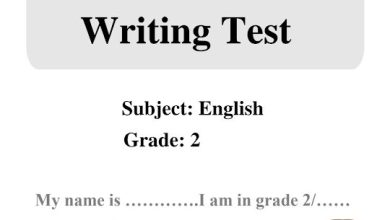 Photo of صف ثاني فصل ثاني لغة إنجليزية امتحان كتابة مع الحل