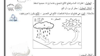 Photo of ملخص السحب ودورة الماء علوم صف أول فصل ثاني