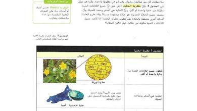 Photo of حل وحدة الخلية ووظائفها علوم صف سادس فصل ثاني