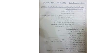 Photo of امتحان في الوحدة الرابعة تربية إسلامية صف رابع فصل ثاني