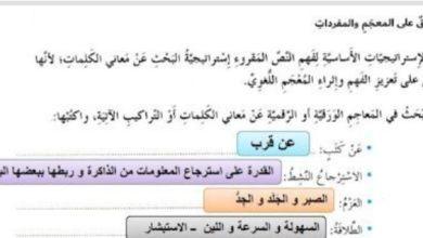 Photo of صف سابع فصل ثاني اللغة عربية حلول درس التعلم مؤلم ولكن يجب ان يكون