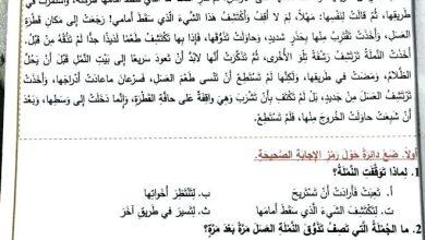 Photo of امتحان نهاية الفصل الثاني 2017 لغة عربية صف ثالث