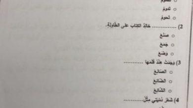 Photo of صف ثاني امتحان لغة عربية نهاية الفصل الثاني عام 2018