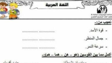 Photo of أوراق عمل لغة عربية صف ثاني فصل ثاني